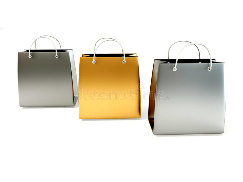 Shopping bags royalty free illustration