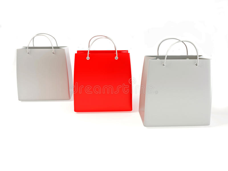 Shopping bags stock illustration