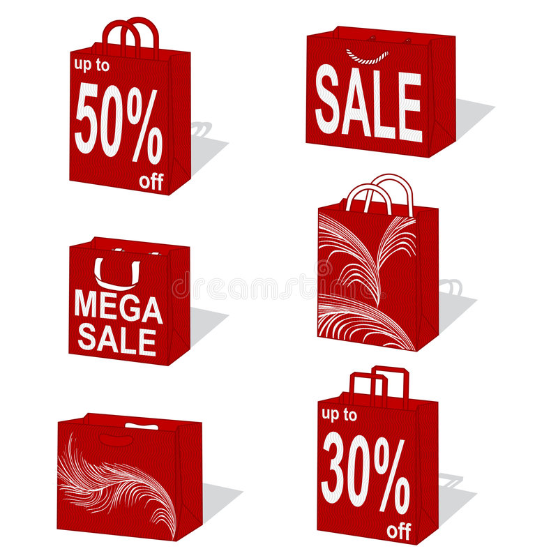 Download Shopping bags stock illustration. Image of fashion, carry - 1693012