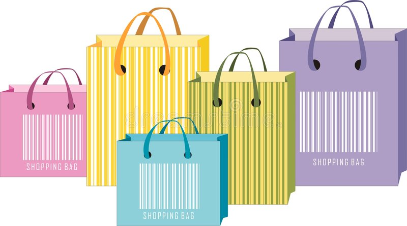 Shopping bags vector illustration