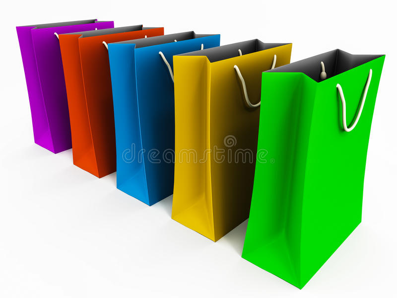 Download Shopping bags stock illustration. Image of store, background - 27668925