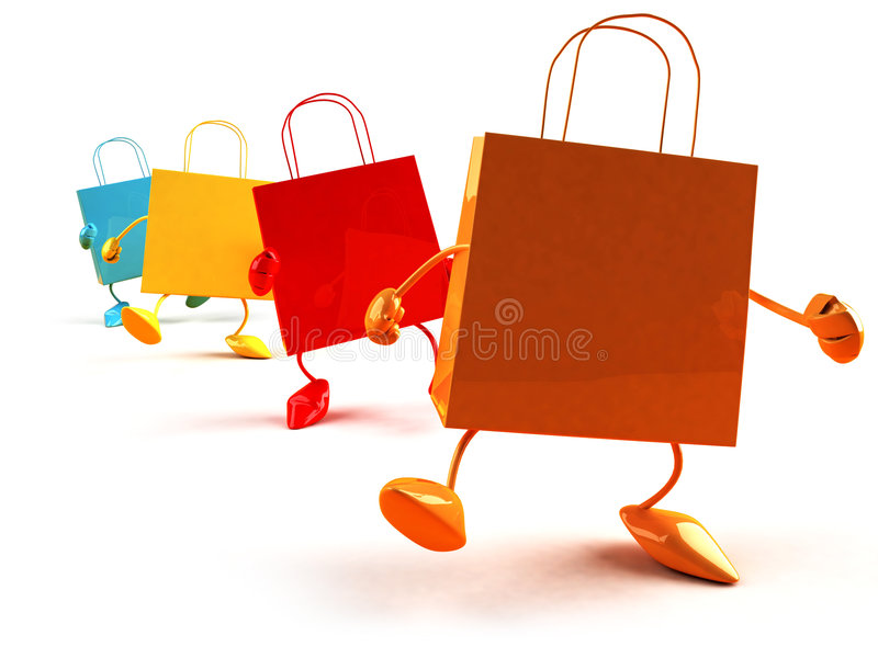 Shopping bags. 3d generated picture