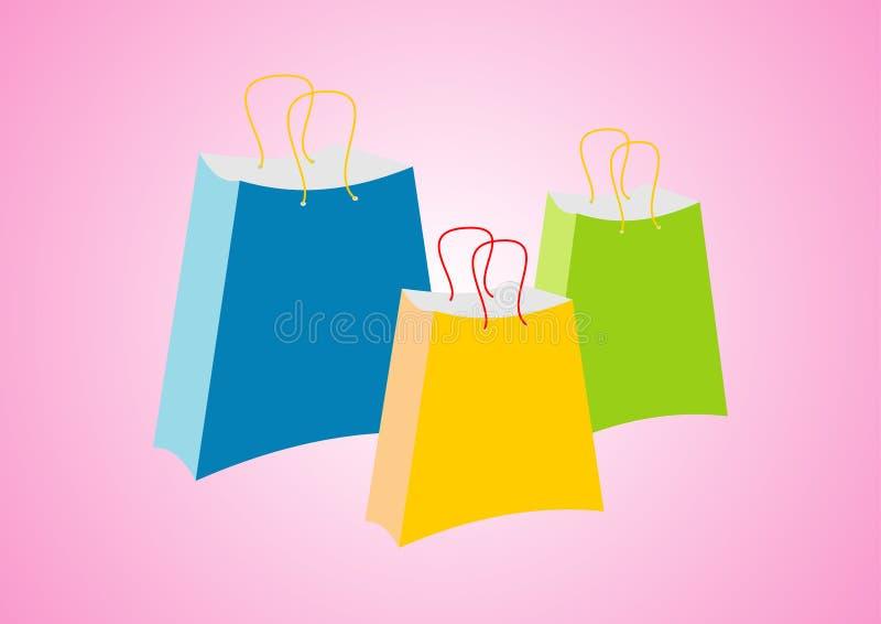 Shopping bags stock illustration