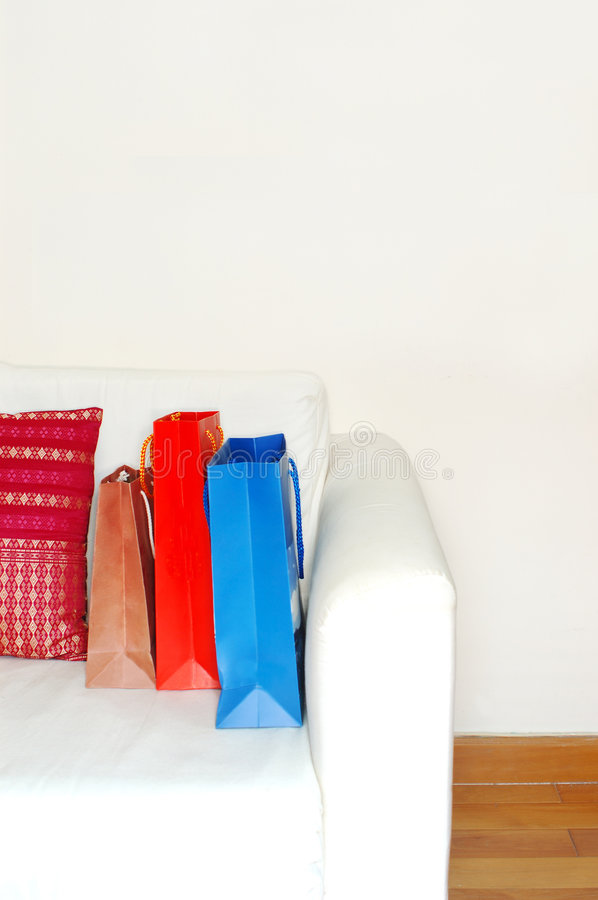 Shopping bags (high key) stock photography
