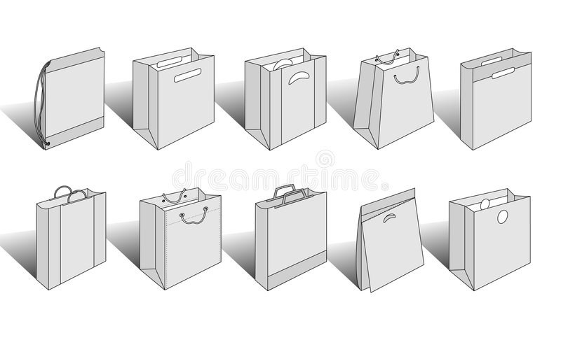 Download Shopping Bags Illustrated Version 3 Royalty Free Stock Photos - Image: 4839738