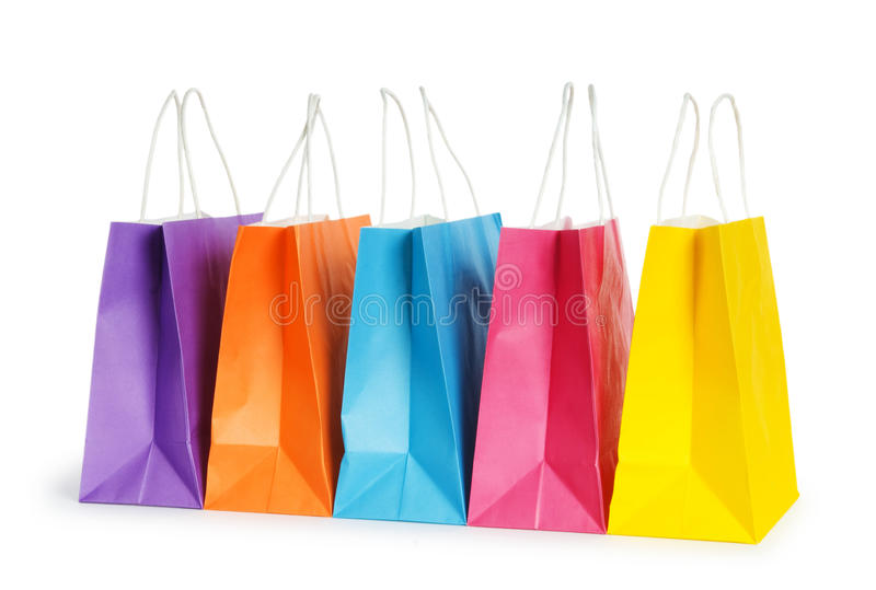 Download Shopping bags isolated stock photo. Image of customer - 16928452