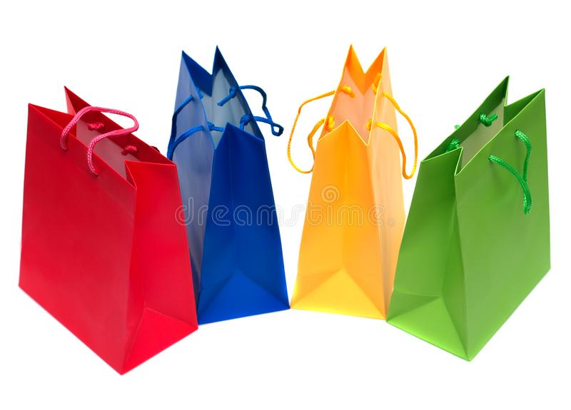 Shopping bags isolated royalty free stock photos