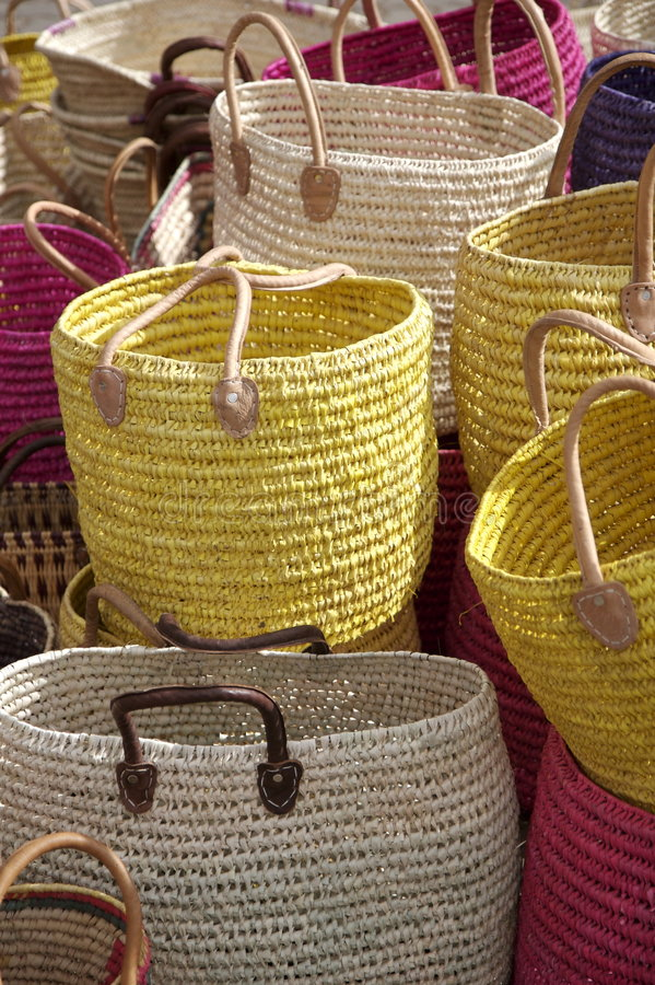 Shopping bags on the market. stock image