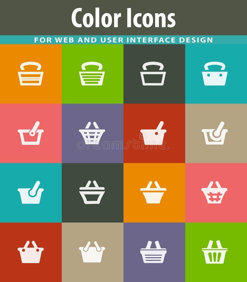 Shopping Bascket icons set. Shopping Bascket icon set for web sites and user interface royalty free illustration