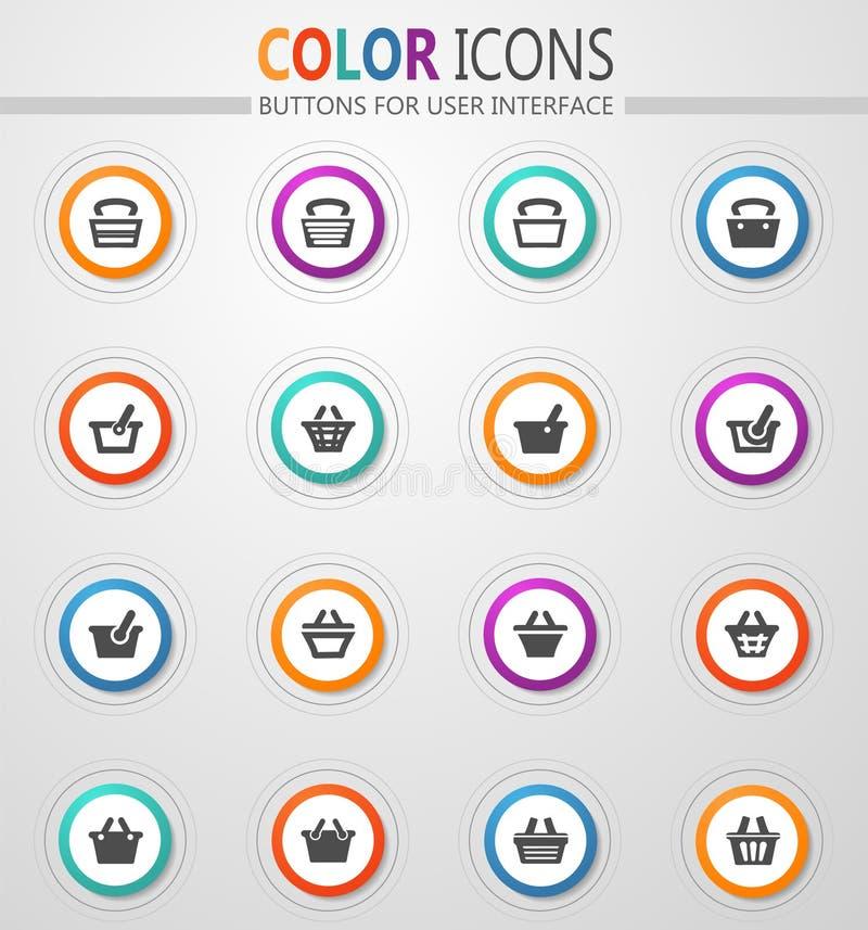 Shopping Bascket icons set. Shopping Bascket icon set for web sites and user interface vector illustration