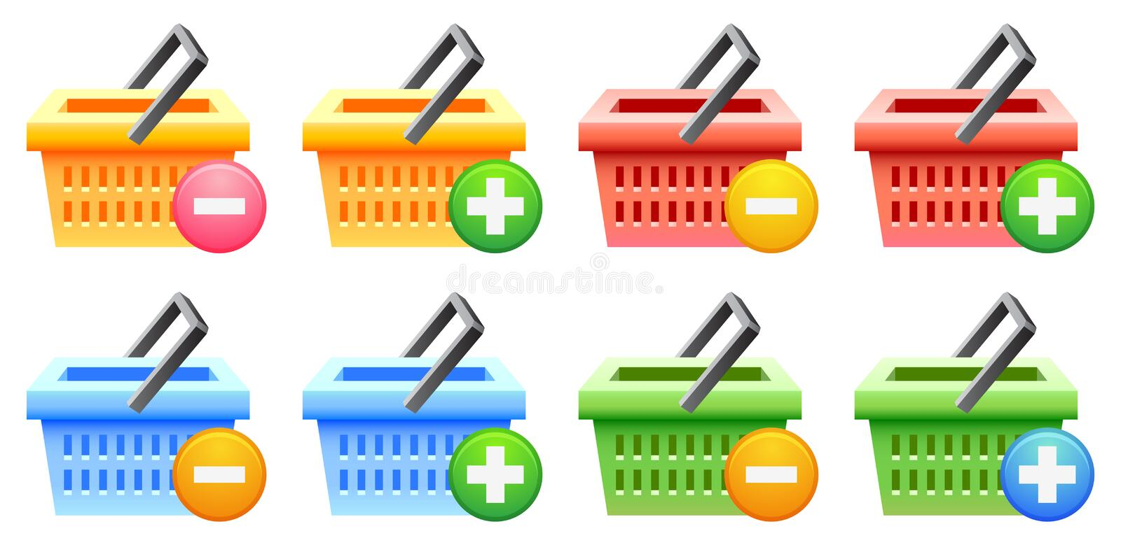 Download Shopping basket and button stock vector. Image of sign - 25475631