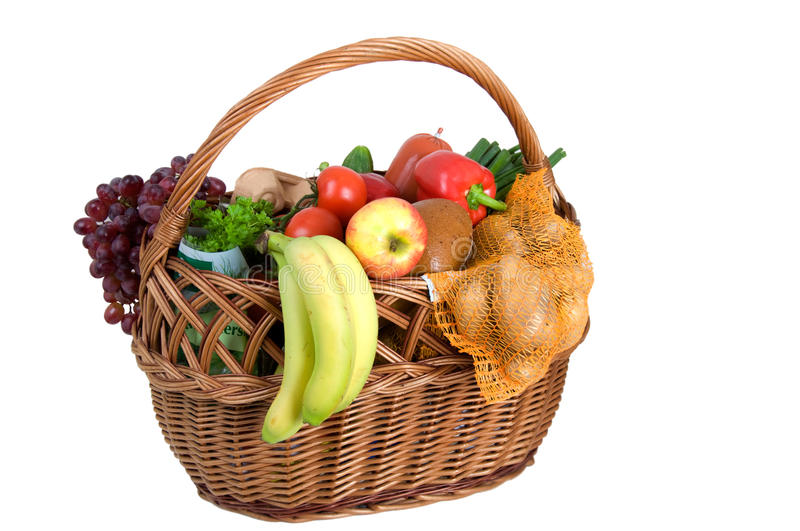Download Shopping basket with foods stock photo. Image of diet - 37136756