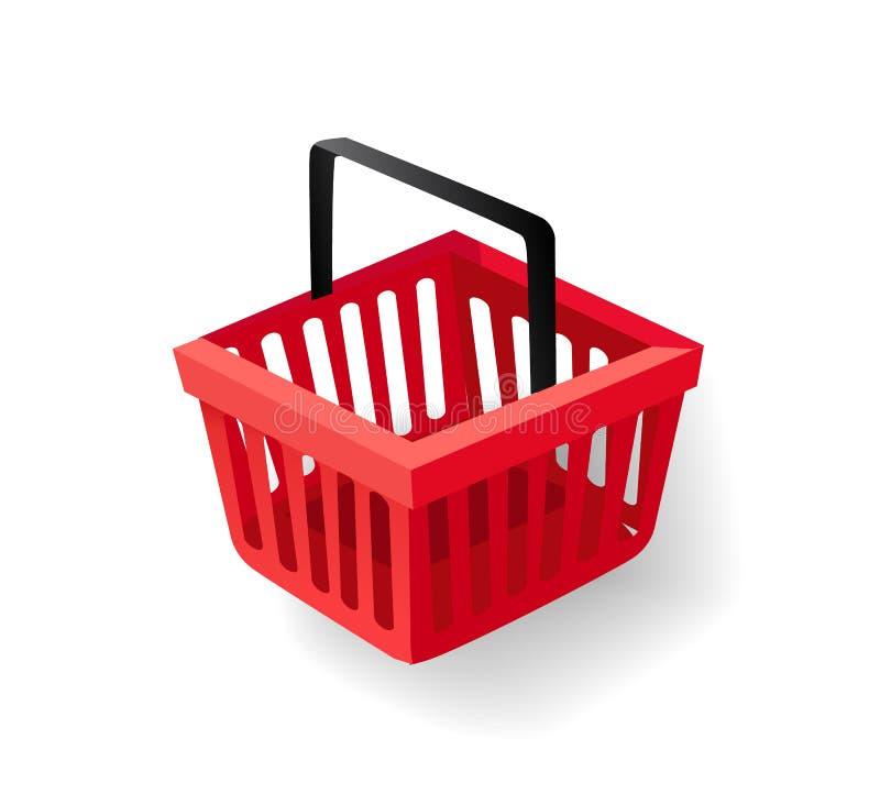 Shopping Basket with Handle, Supermarket Item stock illustration