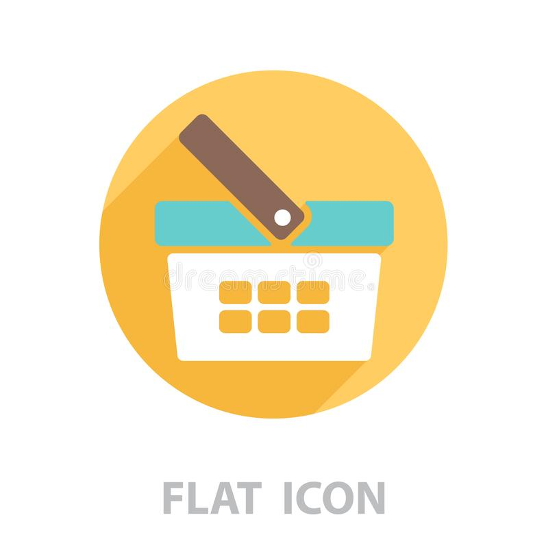 Shopping basket icon - vector stock illustration
