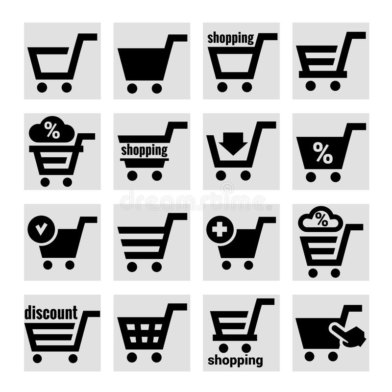 Shopping Basket Icons Stock Image