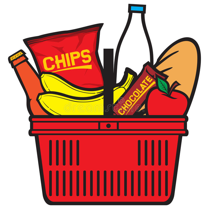 Download Shopping Basket With Produce Stock Image - Image: 24090069