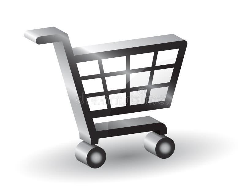 shopping basket sign, 3D vector illustration