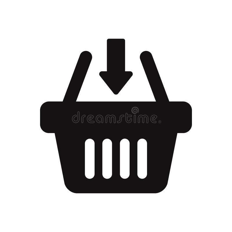 Shopping basket vector icon. Modern and simple flat symbol for web site, mobile, logo, app, UI. royalty free illustration