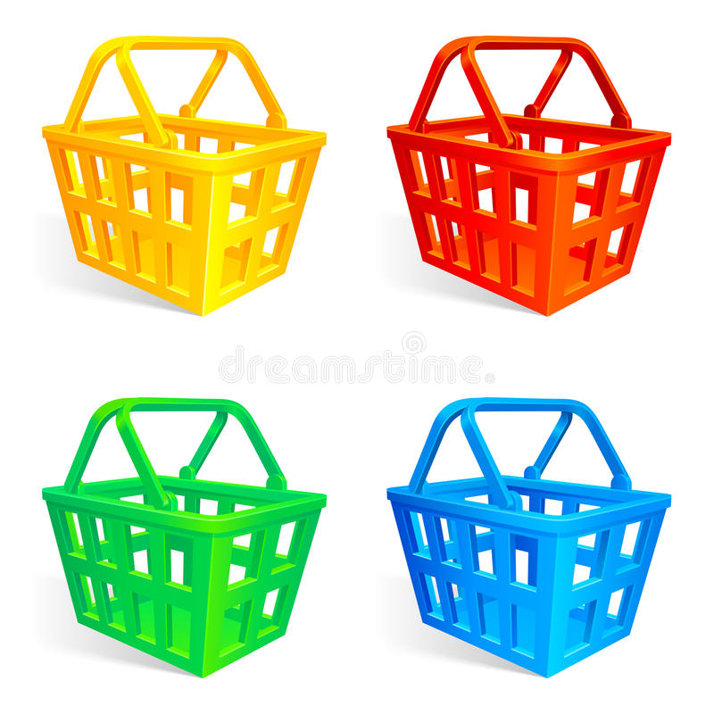 Download Shopping baskets. stock vector. Illustration of isolated - 12685042