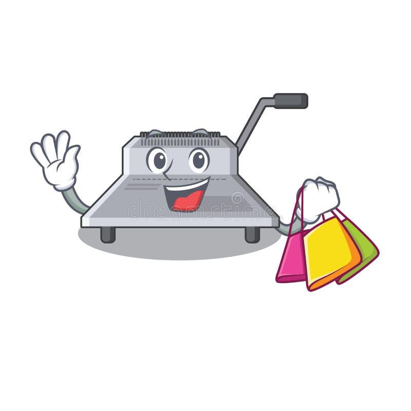 Shopping binding machine in the cartoon shape. Vector illustration vector illustration
