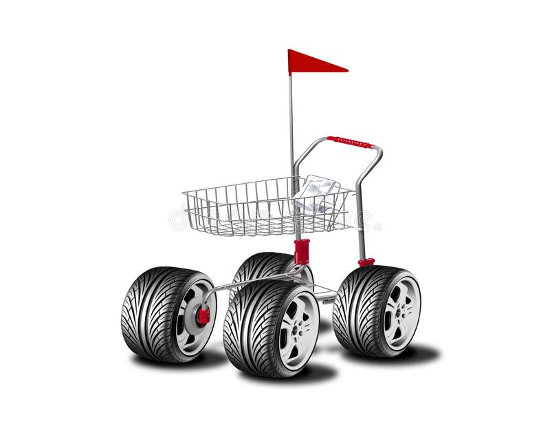 Download Shopping buggy stock illustration. Illustration of payment - 14117649