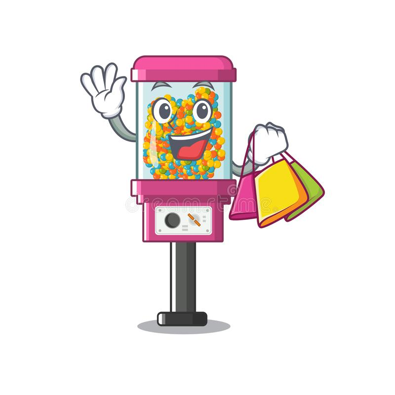 Shopping candy vending machine in a cartoon royalty free illustration