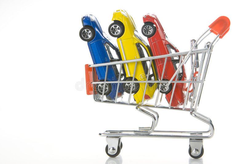 Shopping For Cars stock image