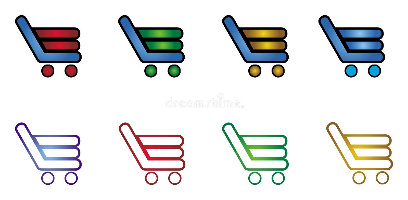 Shopping cart. Abstract graphic icon for commerce vector illustration