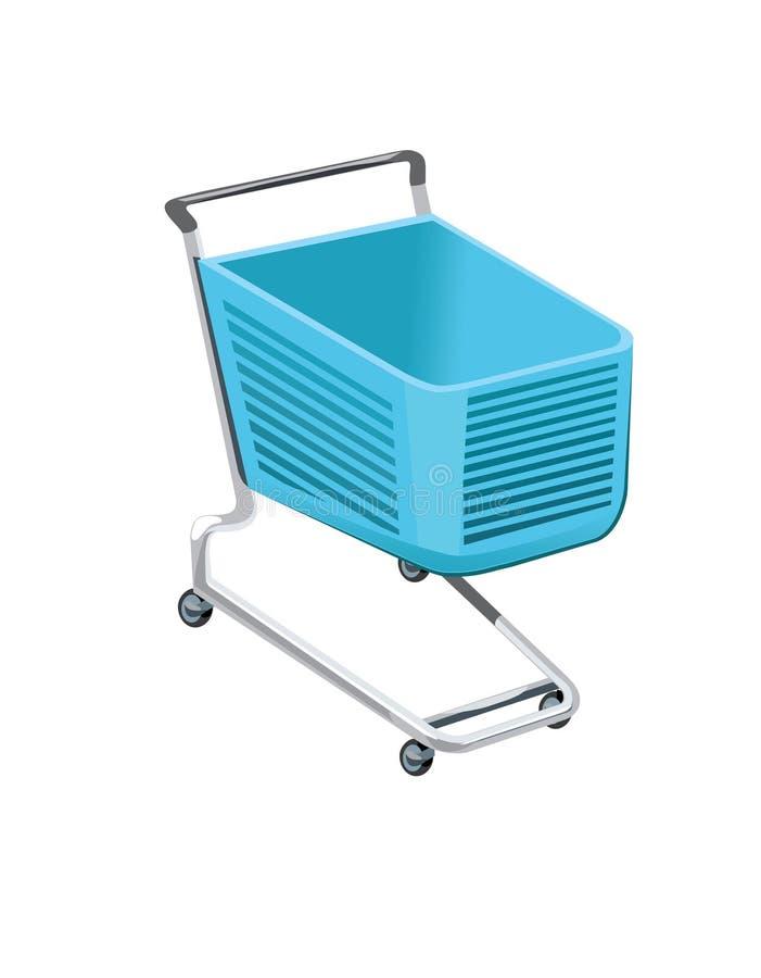 Shopping cart. Isolated on white vector illustration