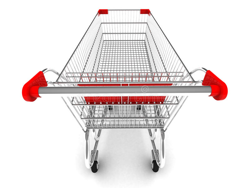 Shopping cart. With clipping path stock illustration
