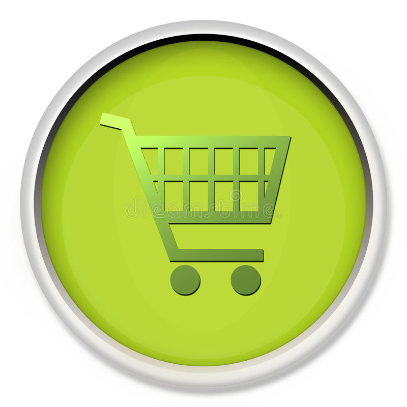 Shopping cart. Computer generated symbol of shopping cart icon royalty free illustration
