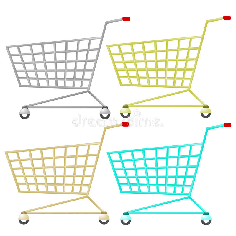 Download Shopping cart stock illustration. Image of shop, symbol - 16376527
