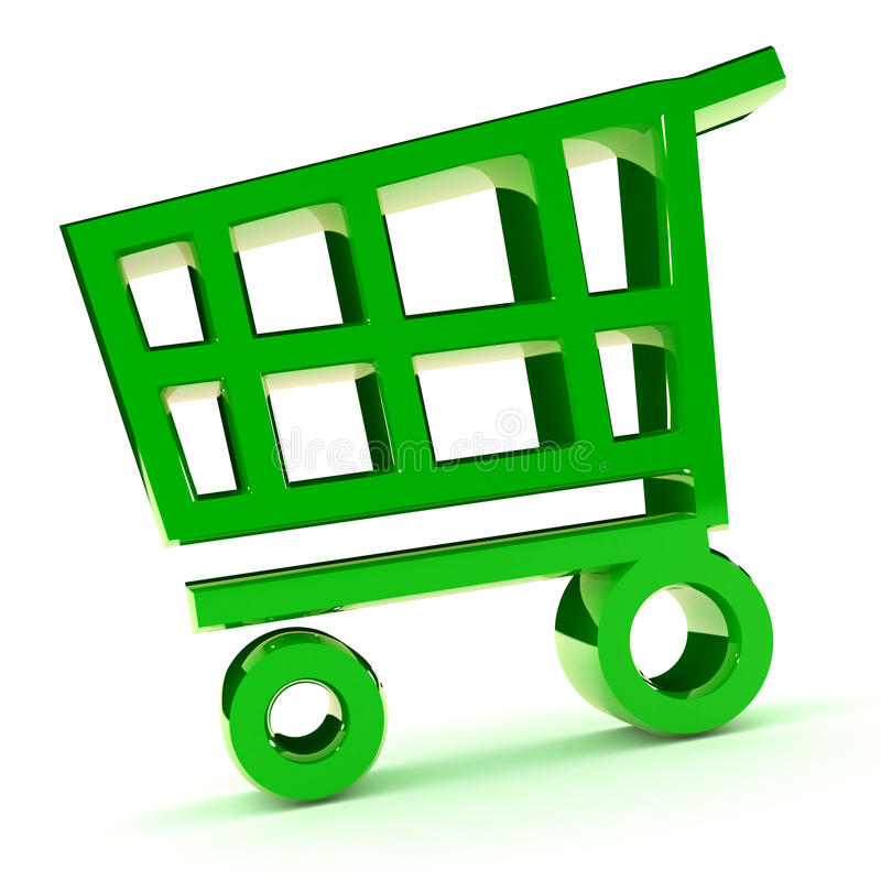 Download Shopping Cart stock illustration. Image of empty, isolated - 18601665
