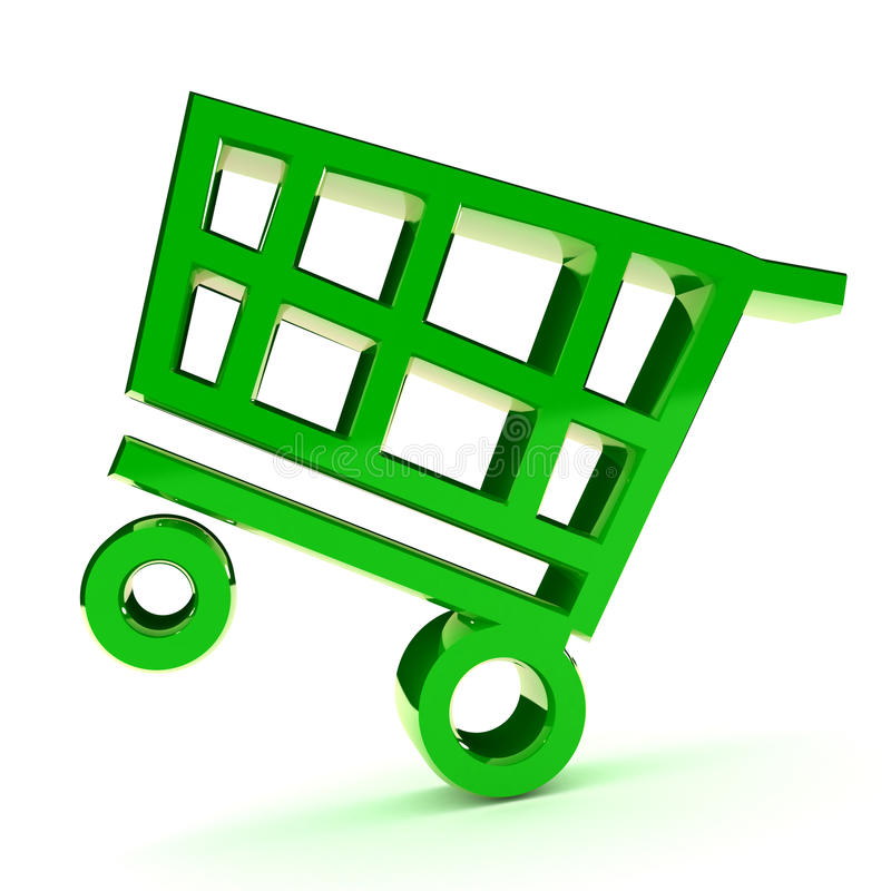 Download Shopping Cart stock illustration. Image of purchase, internet - 18660963
