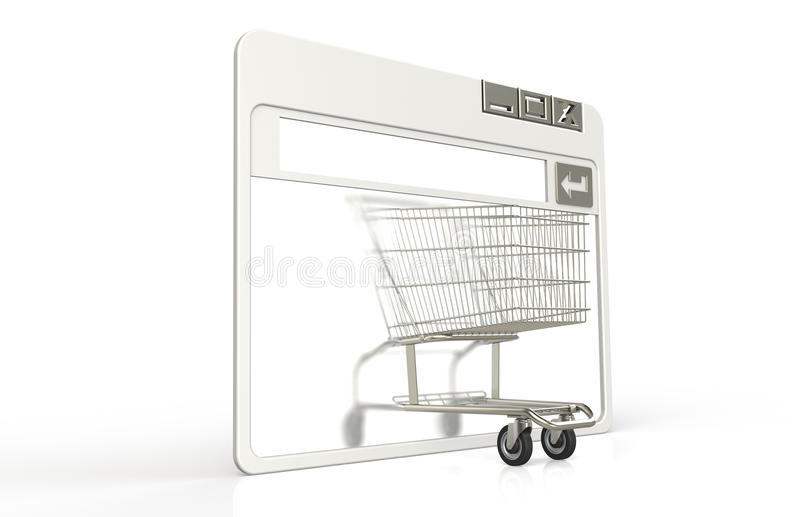 Download Shopping cart stock illustration. Image of dimensional - 18833541