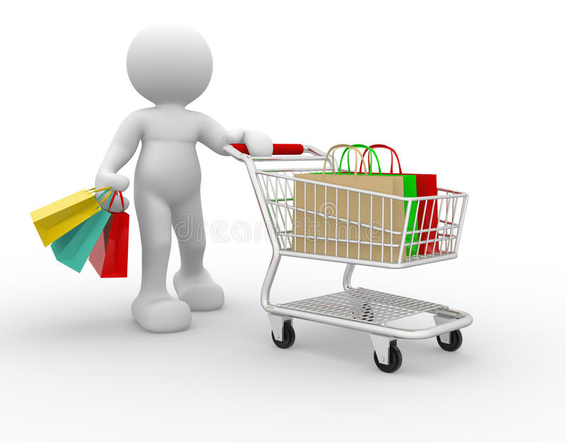 Download Shopping cart stock illustration. Illustration of cartoon - 19773725