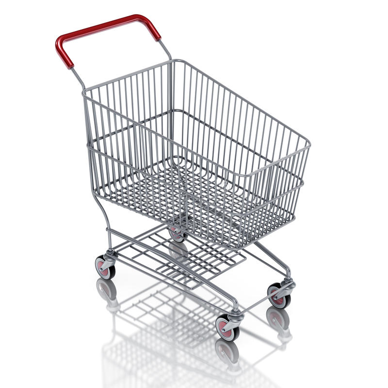 Download Shopping cart stock illustration. Image of shopping, render - 20080845