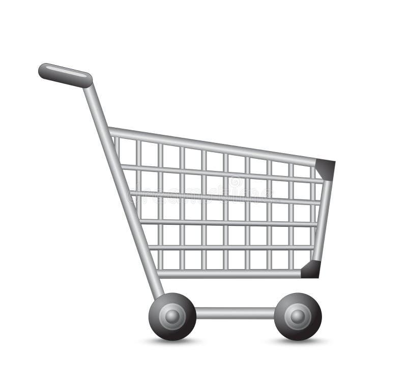Shopping cart. On a white background. Vector illustration stock illustration