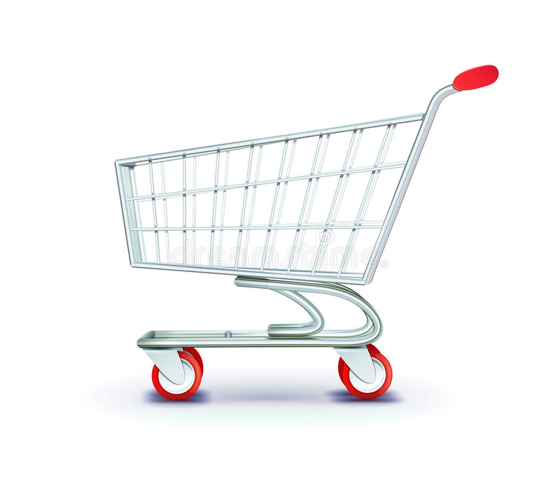 Shopping cart royalty free illustration