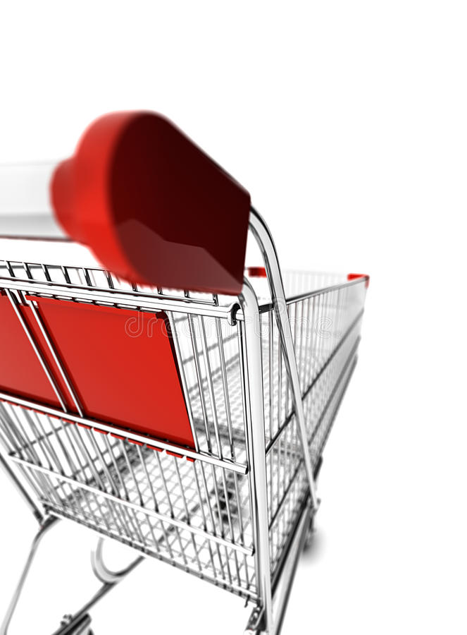 Download Shopping cart stock illustration. Illustration of market - 26927556