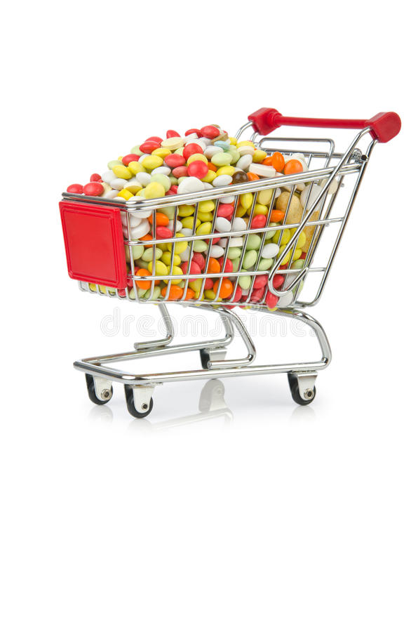 Download Shopping cart stock photo. Image of bottle, container - 27512966