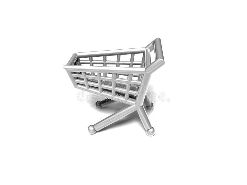 Shopping cart 3D icon stock illustration