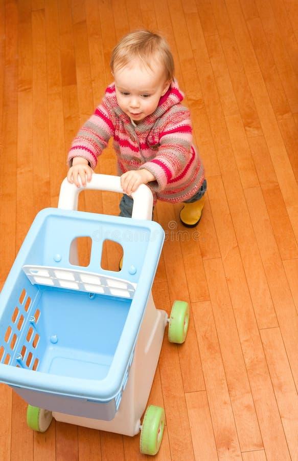 Download Shopping cart stock photo. Image of shop, push, girl, female - 7890742