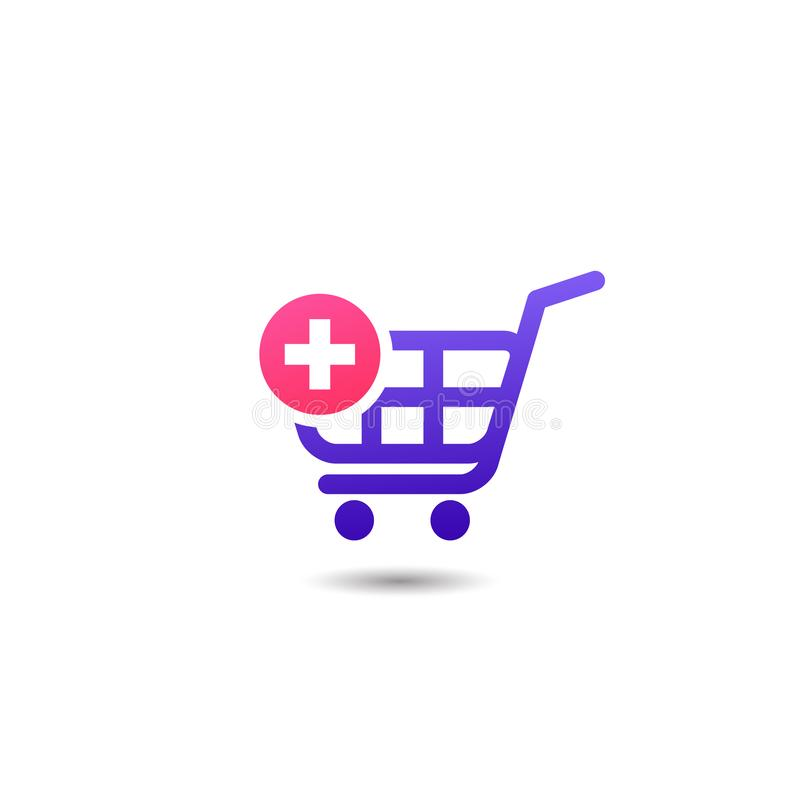 shopping cart add item icon design. add to cart icon designs stock illustration