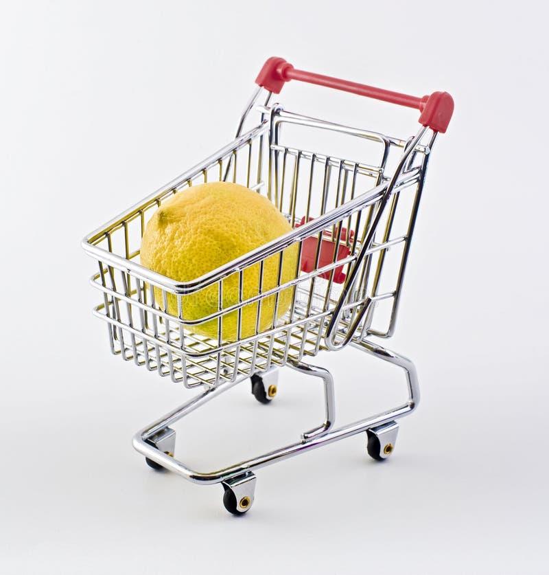 Free Shopping Cart And Lemon Stock Photo - 9699510