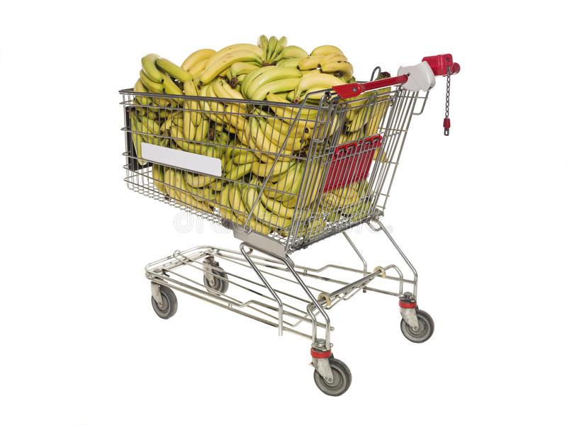 Shopping Cart With Bananas Royalty Free Stock Image