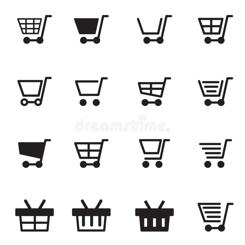 Shopping cart & basket icon. Vector illustration Graphic Design symbol stock illustration
