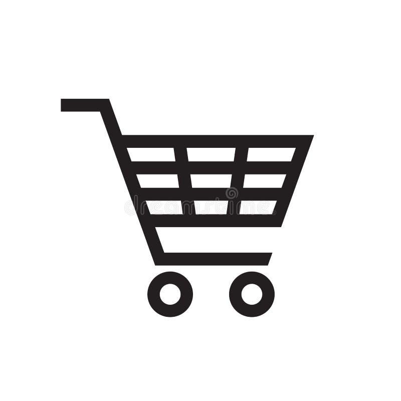 Shopping Cart - black icon on white background vector illustration for website, mobile application, presentation, infographic. royalty free illustration