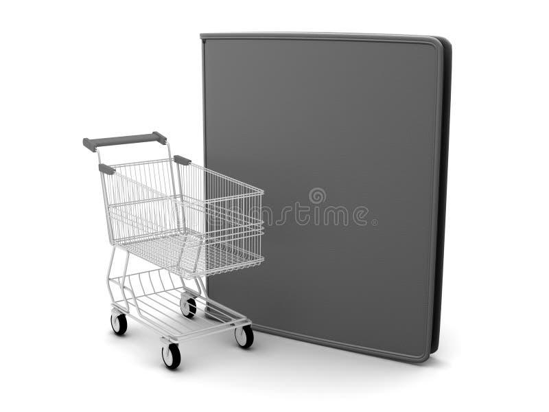 Download Shopping Cart And Black Leather Wallet Stock Illustration - Illustration of dealership, wallet: 39510374