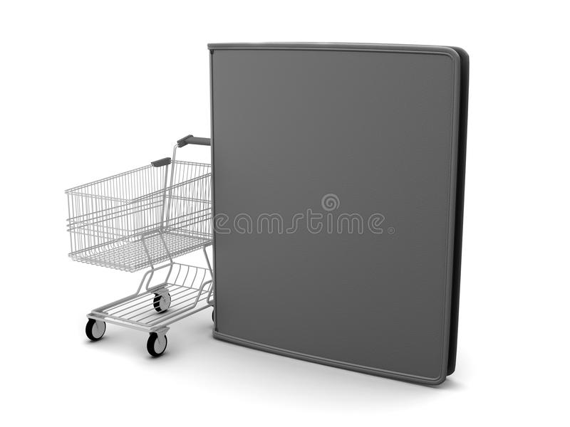 Download Shopping Cart And Black Leather Wallet Stock Illustration - Illustration of pocketbook, currency: 39510380
